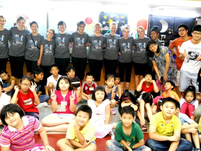 The YWAM group reaching out in Taiwan